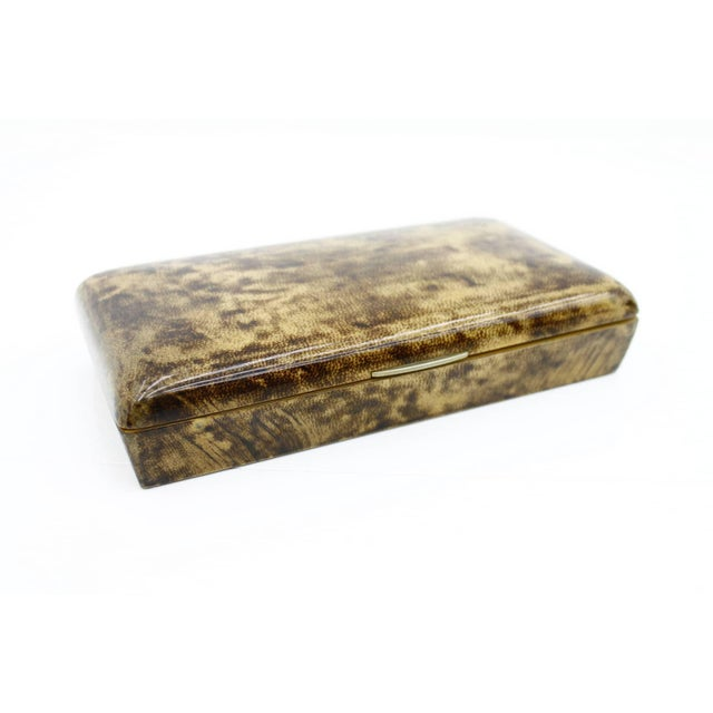Metal Rare Goatskin Cigar Box by Aldo Tura, Italy, 1960s For Sale - Image 7 of 7
