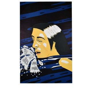 Alex Katz Original 1976 Art Exhibition Poster for Olympic Theme Showcase For Sale