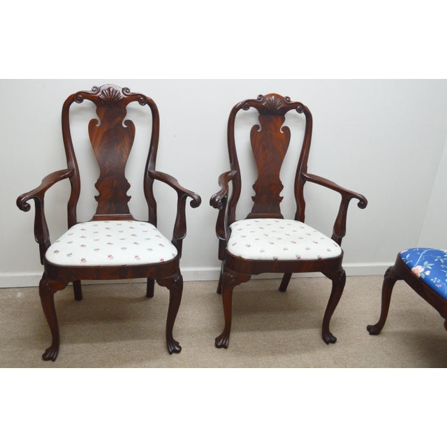 Chippendale Councill Set of 6 Mahogany Dining Chairs For Sale - Image 3 of 13