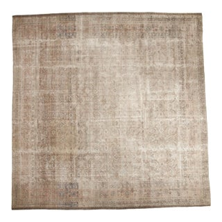 "Vintage Distressed Sivas Square Carpet - 11'10"" x 11'10"""