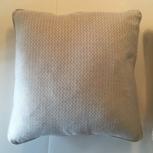 Nobilis Chevron Patterned Pillows - A Pair - Image 3 of 8