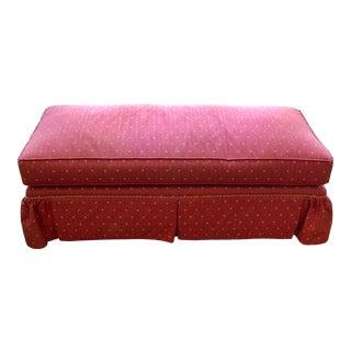 Yellow Polka Dot Pink Long Bench For Sale