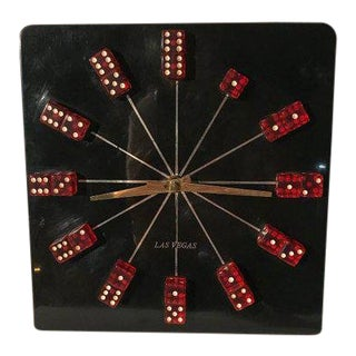 Mid Century Modern Las Vegas Wall Clock For Sale