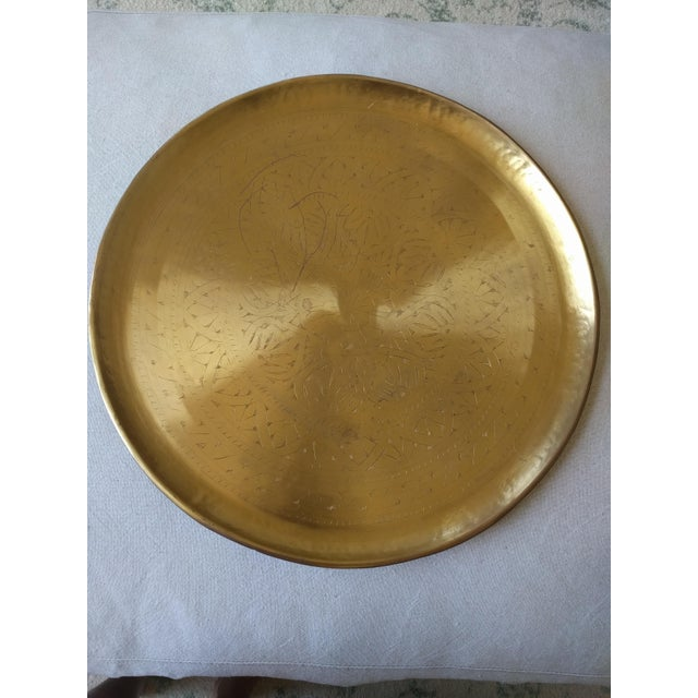 Pottery Barn Etched Brass Tray - Image 2 of 5