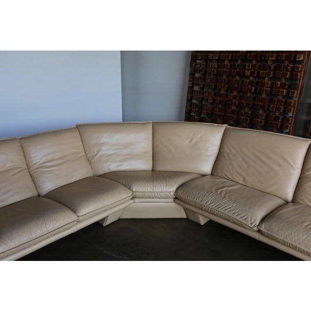 Nicoletti Salotti Modern Leather Sectional Sofa Circa 1985 For Sale - Image 12 of 13