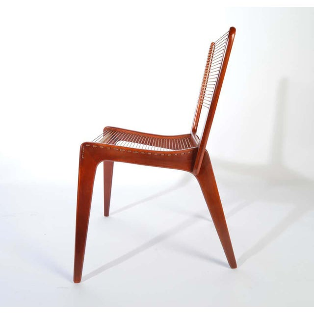 Jacques Guillon Cord Chair For Sale In Philadelphia - Image 6 of 8