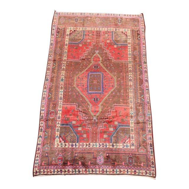 Persian Geometric Nahavand Hamedan Rug - 4′11″ × 8′8″ For Sale