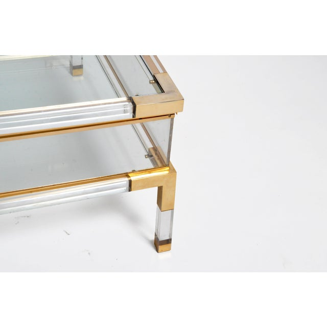 Vintage 1970s Sliding Glass Top Coffee Table Attributed to Maison Jansen For Sale - Image 11 of 13