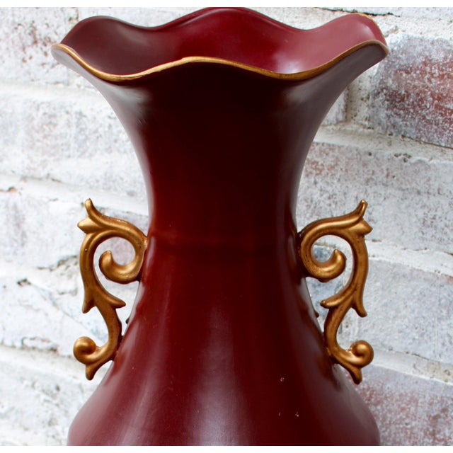 Mid 20th Century Tropical Umbrella Stand or Floor Vase For Sale - Image 6 of 8