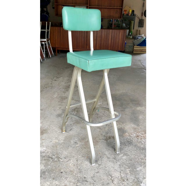 Warren McArthur Rare Warren McArthur Bar Stool/Kitchen Stool 1930's For Sale - Image 4 of 11