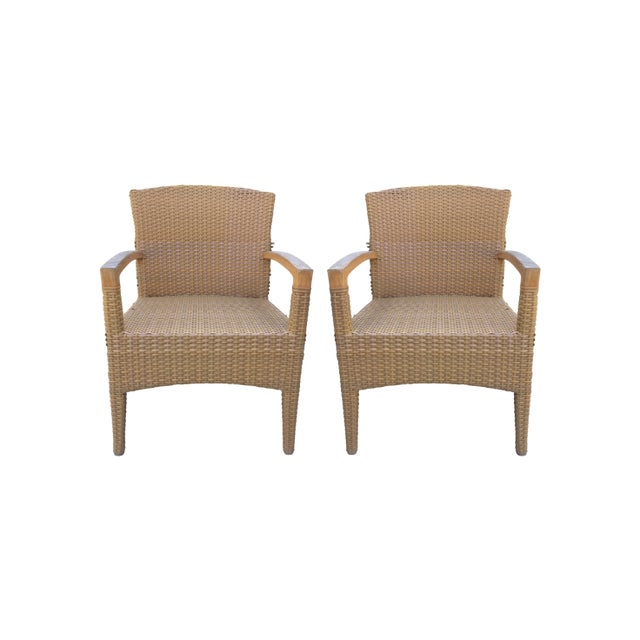 Plastic Gloster Plantation Outdoor Dining Armchairs - a Pair For Sale -  Image 7 of 9 - Gloster Plantation Outdoor Dining Armchairs - A Pair Chairish