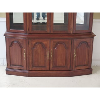 1990s Vintage Pennsylvania House 4 Door Cherry China Cabinet Breakfront Preview