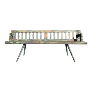 Vintage European Reversible Bench