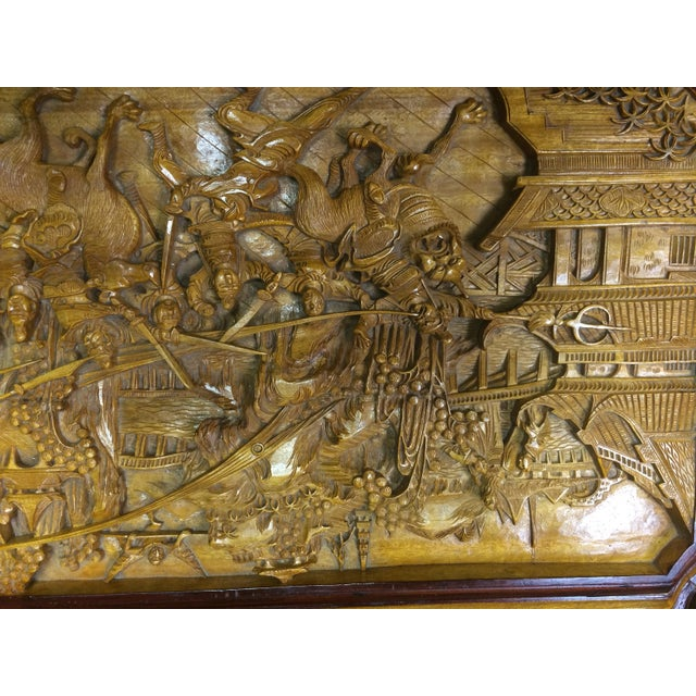 Ornate Hand-Carved Asian Chest For Sale - Image 11 of 11