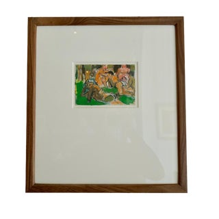 """1960s Painting """"Bathers"""" by Jeffrey Boys For Sale"""