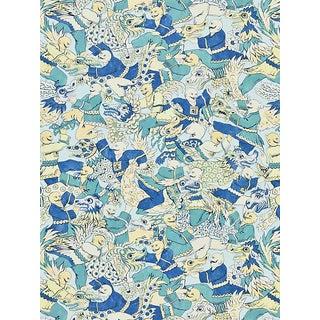 Sample, Scalamandre Dragon Dance, Summer Sage Fabric For Sale