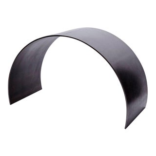 Modern Ash Waxed Steel Curved Arc Stool For Sale