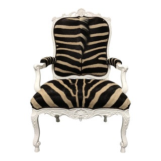 Ebanista Jesi South African Hide Arm Chair For Sale