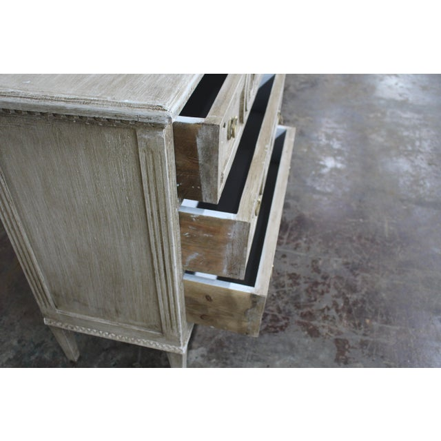 Metal 20th Century Vintage Swedish Gustavian Style Nightstands - a Pair For Sale - Image 7 of 12