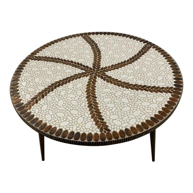 Vintage Mid-Century Modern Tile Coffee Table For Sale