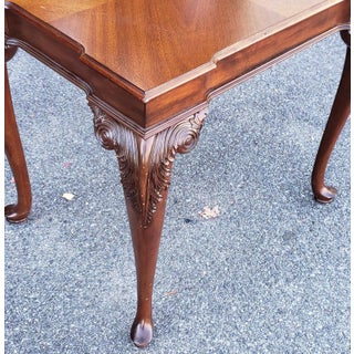 Ethan Allen Newport Collection Belmont Mahogany Carved End Table #34-8413 Preview