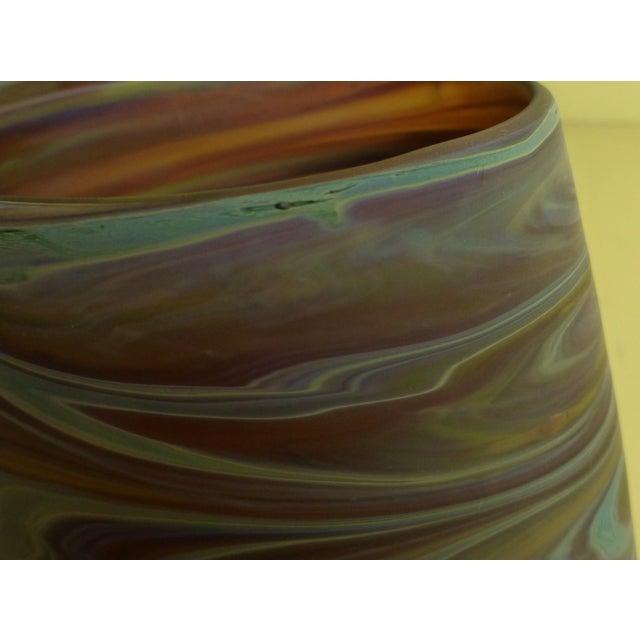 Mid Century Studio Art Glass Vase For Sale - Image 12 of 13