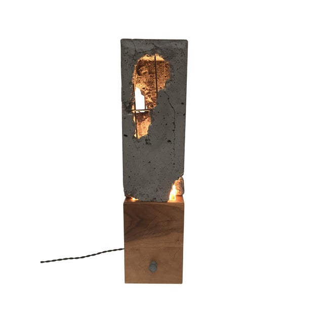 Contemporary Walnut Wood Tabletop Scarpa Light For Sale - Image 3 of 9