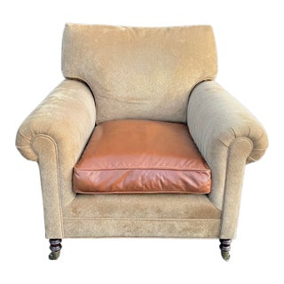 George Smith Full Scroll Arm Chair For Sale