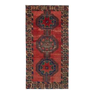 """Shiravan Vintage Turkish Rug, 5'1"""" x 10'4"""" feet"""