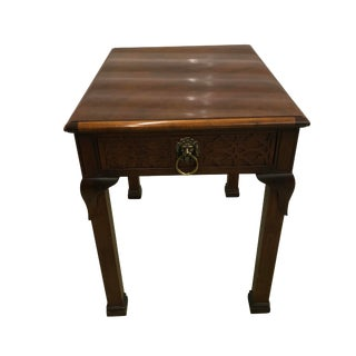 Baker Asian Chippendale Side Table For Sale
