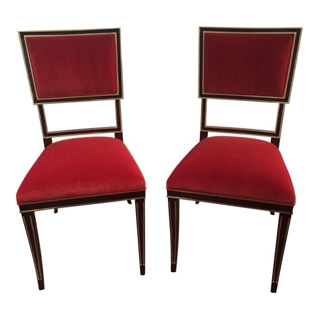 Hickory Chair Ilsa Side Chairs - A Pair For Sale