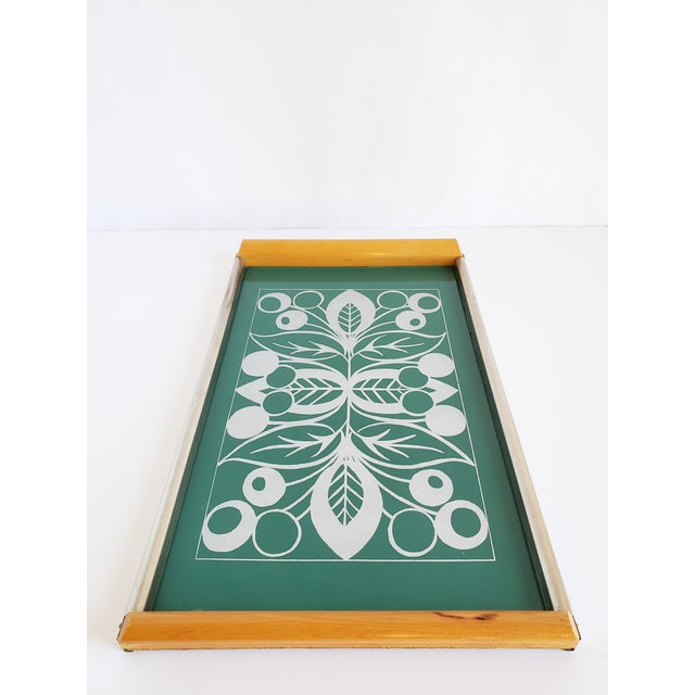Metal Mid Century Modern Serving Tray For Sale - Image 7 of 12