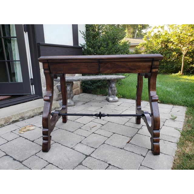 Brown Traditional Port Eliot 2-Drawer Wooden Side Table For Sale - Image 8 of 8