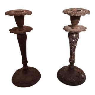 Vintage Anthropologie Candle Holders - A Pair