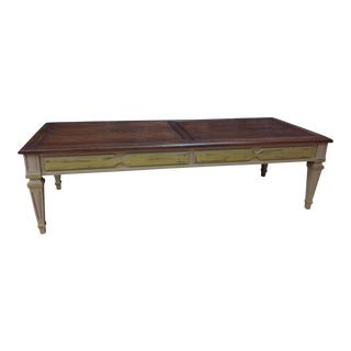 Hazelnut Top Vintage Coffee Table For Sale