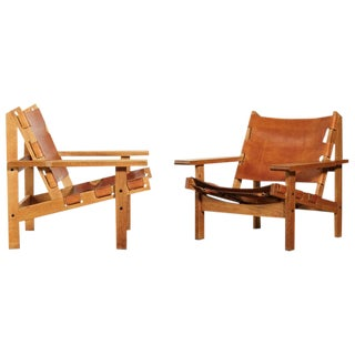 Pair of Kurt Ostervig / Erling Jessen Hunting Chairs, Denmark, 1960s For Sale