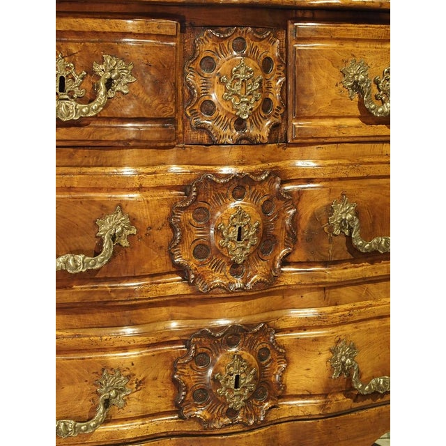 Mid 18th Century French Walnut Wood Commode From Lyon, Circa 1750 For Sale - Image 5 of 13