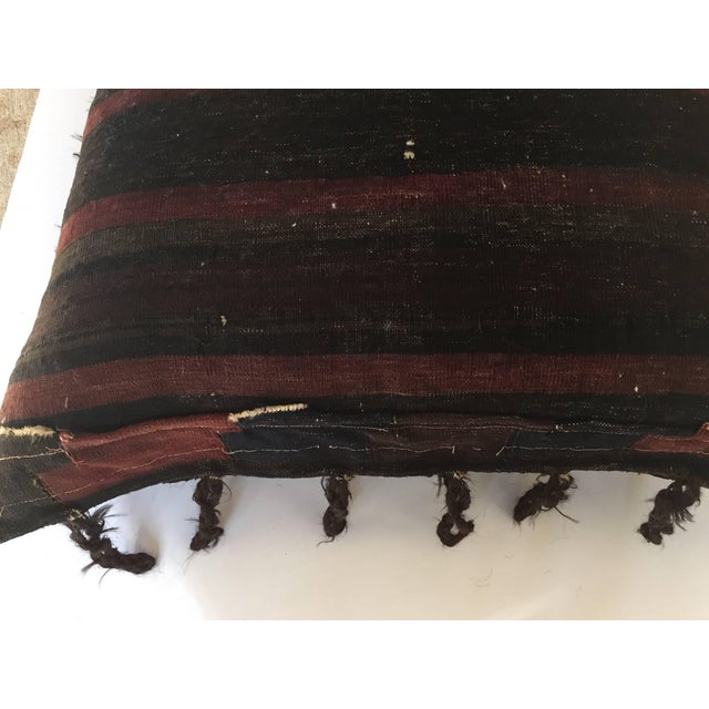 1880s Handwoven Afghan Baluch Saddle Tribal Bag, Large Floor Pillow For Sale - Image 4 of 13