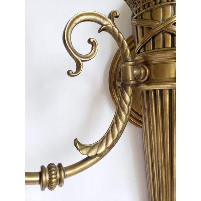 Metal Decorative Crafts Inc. Antique Brass Wall Sconces- a Pair For Sale - Image 7 of 13