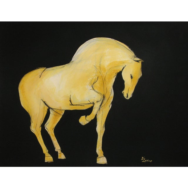 Sienna Tang Horse I Painting by Heidi Lanino For Sale