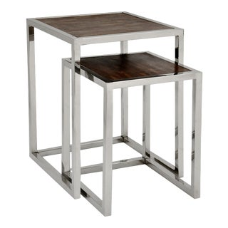Modern Verel Nesting Table Set - 2 Pieces For Sale