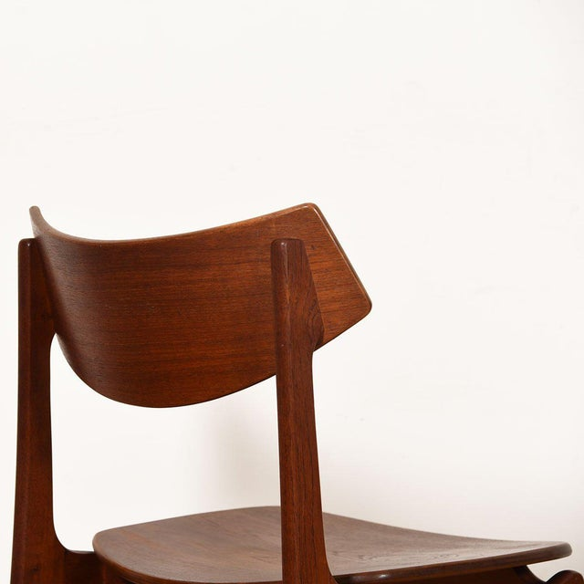 Funder-Schmidt and Madsen Danish Teak Curved Back Dining Chairs - Set of 4 For Sale - Image 4 of 13