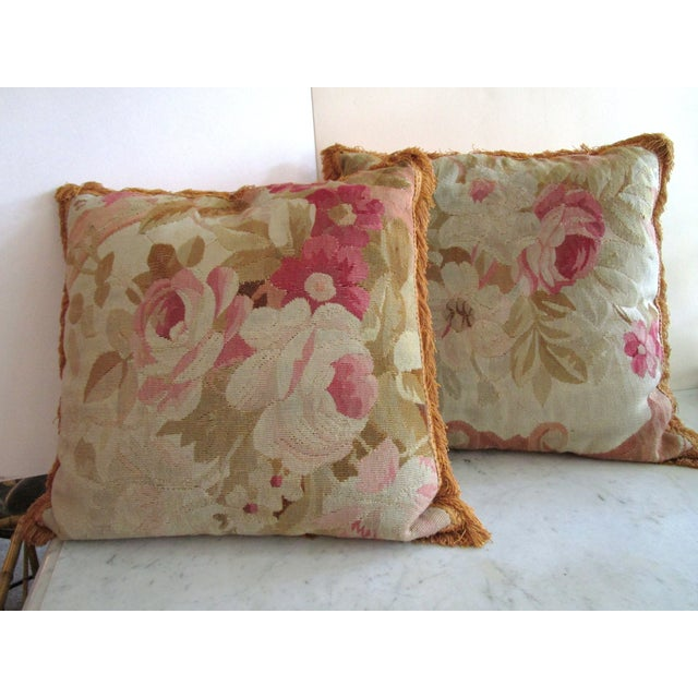 Aubusson Pillows - Pair - Image 3 of 6