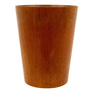 Vintage Mid-Century Danish Teak Waste Basket For Sale