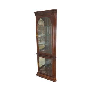 Ethan Allen Georgian Court Corner Curio Display Cabinet For Sale