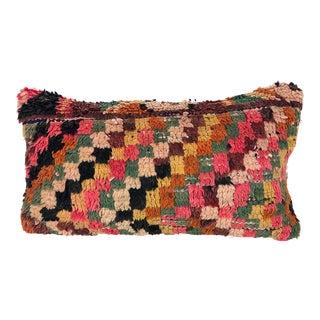 1980s Boho Chic Rug Fragment Pillow For Sale