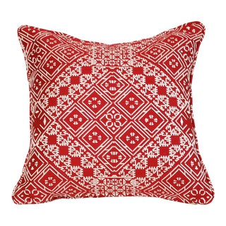 Red Fez Fabric Pillow