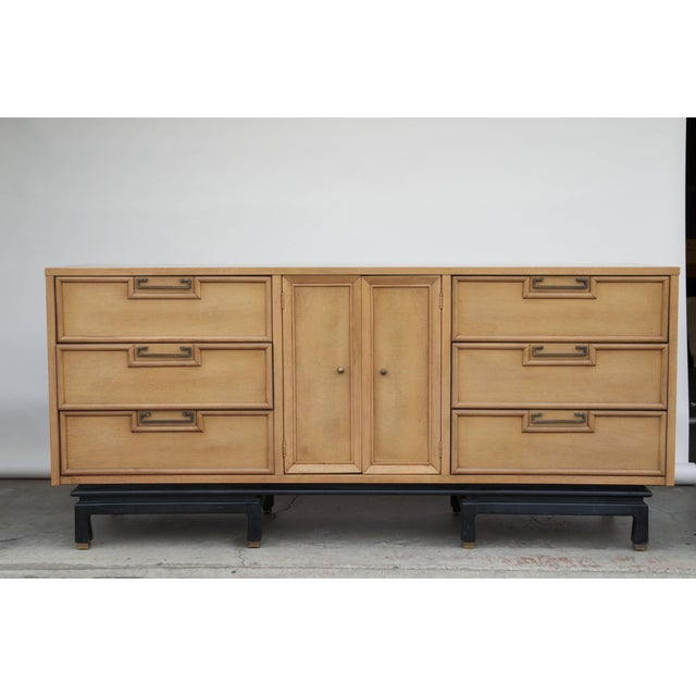 Mid Century American of Martinsville Large Bleached Mahogany Dresser For Sale - Image 9 of 10