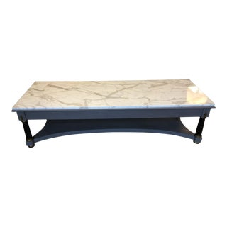Classic Marble Top Coffee Table