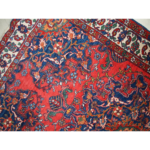 1970s 1970s Hand Made Vintage Persian Mashad Rug - 4′7″ × 6′4″ For Sale - Image 5 of 10